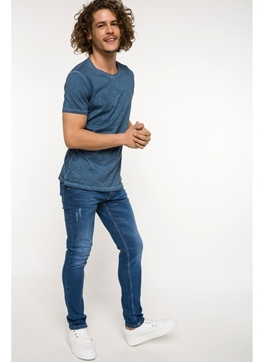 DeFacto Carlo Skinny Fit Denim Pantolon Mavi